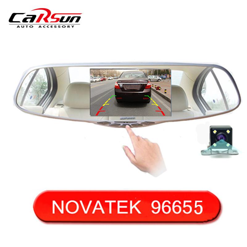 "5.0"" IPS Screen FHD1080P Car DVR Original NTK96655 Rearview Mirror video recorder Car DVRS Dual Camera Black Box(China (Mainland))"
