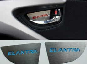 Hyundai Elantra stainless steel inner door handle decorative stickers patches within the modified patch thickened inner door(China (Mainland))
