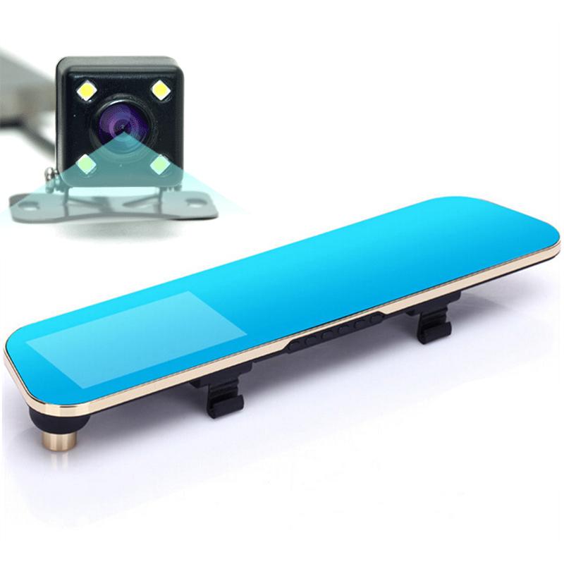 Гаджет  New Novatek 1080P Car Blue Rearview Mirror Camera Dvr Full HD Digital Video Recorder With Two Cameras Auto Dash Cam Black Box None Автомобили и Мотоциклы