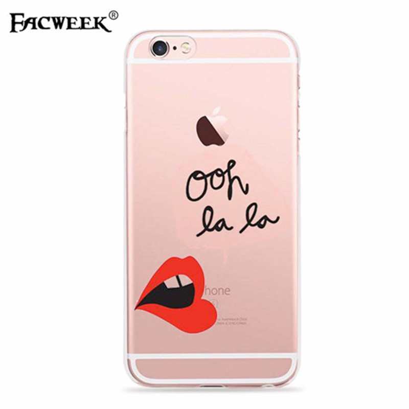 Coque Fundas For Iphone 6 6S Phone Case Transparent Back Cover Silicone Carcasa For iPhone6 Accessories Protective Shell Capa