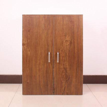 60cm*50cm pvc self-adhesive wallpaper wood wardrobe closet door furniture renovation thick vinyl wall stickers(China (Mainland))