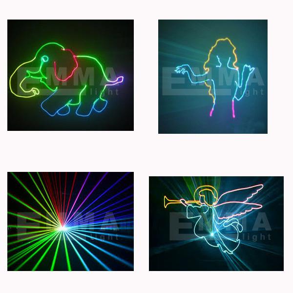 new 2015 RGB 500MW DMX512 Laser Stage Lighting Scanner 3D effect light projector DJ Disco Party Xmas Lights Show Digital DMX(China (Mainland))