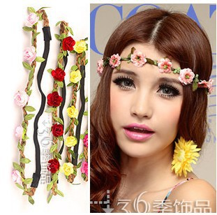 /lot Handmade Flower headband. Party Woman Hair accessories-in Hair