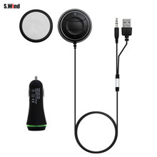 Auto Car Vehicle Bluetooth 4.0 Music Receiver 3.5mm Adapter Handsfree Car AUX Speaker Free Shipping(China (Mainland))