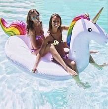 275cm Large Unicorn Swimming Ring Inflatable Swimming Pool Toys for Adults Water Fun Pool Toys Inflatable Toy PVC Toy Pool Float(China (Mainland))