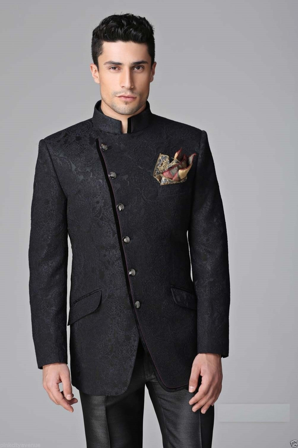 Jacket Polyester Picture - More Detailed Picture About New Indo Western Suit Men Wedding Suits ...