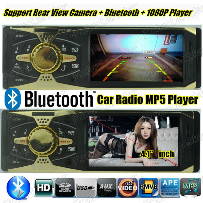 new 12V Car radio MP5 player tuner Support Rear View Camera car Stereo bluetooth FM MP3 car Audio USB SD MMC Port In-Dash 1 DIN(China (Mainland))