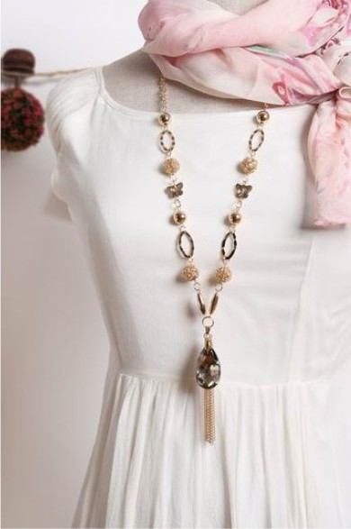 Wholesale! big star style large crystal pendant metal tassel long chain Necklace NL380 el collar(China (Mainland))