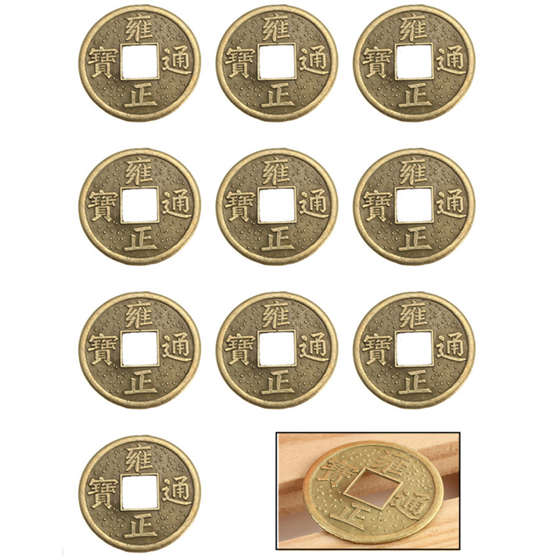 New 100pcs 24mm chinese lucky feng shui coin good fortune - Feng shui good luck coins ...