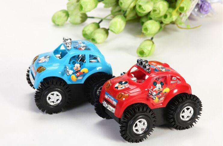 2016 1:8 Chuggington Cars Pixar Brinquedos Non Electric Remote Control Car Dumpers Mickey Tumbling Stunt Suv Model Toy Vehicle(China (Mainland))