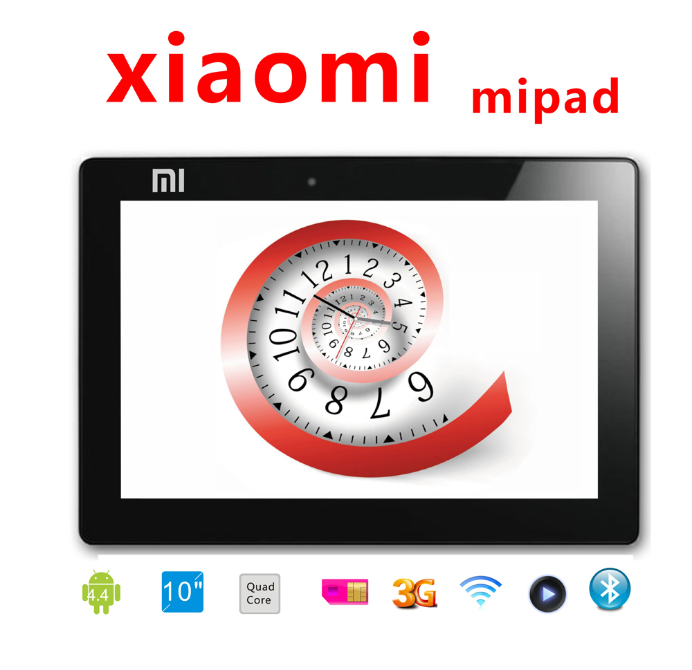 """10 Inch Tablet Xiaomi MIPAD MI PAD MTK6582 Quad Core 2GB 32GB Android 4.4 tablet pc 3G Phone Call 10.1"""" IPS Camera GPS Phablet(China (Mainland))"""