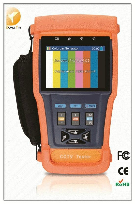 2015 New issue 3.5 '' 1080P TVI Tester for CCTV Camera with Video Capture& Recording with 12V1A Power to Camera(China (Mainland))
