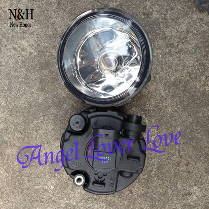 Fog Lights Lamps w H11 Halogen Bulbs For Nissan Infiniti qashqai Tiida One Pair Replacement Parts