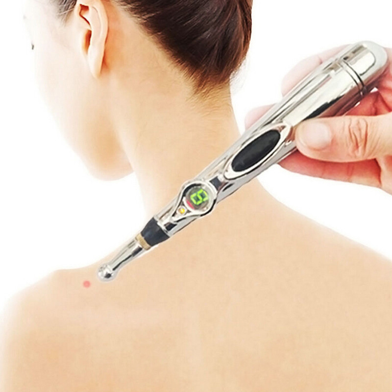 New Electronic Acupuncture Pen Pain Relief Therapy Pen Safe Meridian Energy Heal Massage Body Head Neck Leg Health Massageadores(China (Mainland))