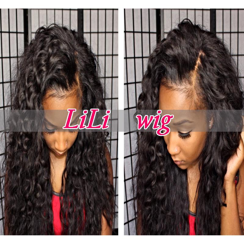 150 Density Human Hair Full Lace Wigs Brazilian Virgin Hair Lace Front Wigs Glueless Full Lace Wig For Black Women(China (Mainland))