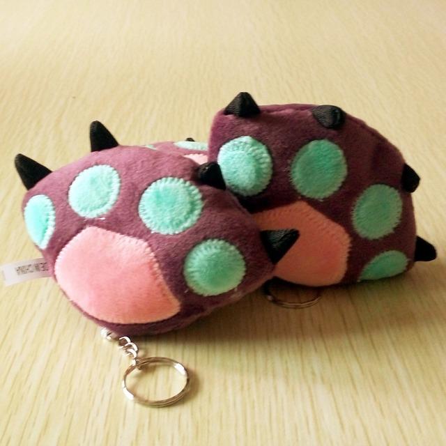 Подарок детские suffed игрушка медвежья лапа сумка сотовый телефон брелок для детей куклы мягкие игрушки мультфильм кукла животных 1 шт./лот BL1133