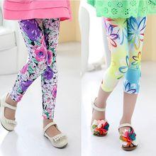 2015 Children's Clothing Girl Pants New Arrive Printing Flower Girls Leggings Toddler Classic Legging 2-10Y Baby Kids Leggings