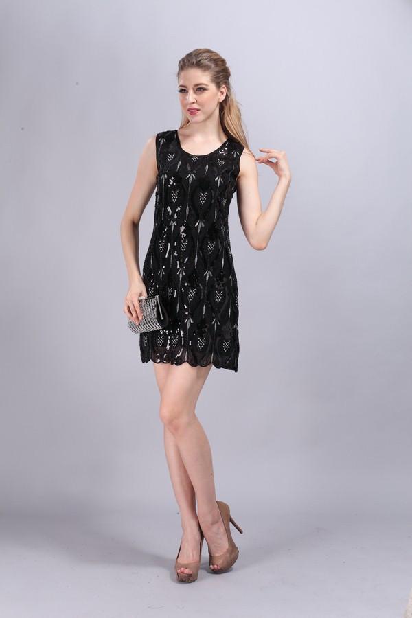 Женское платье 2015 Sommer 1920er Jahren stil/ikone Klappe pailletten kleid