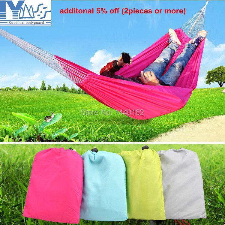 Гаджет  Outdoor Leisure Portable Camping Survival Hammock hamacas de dormer Parachute Cloth Double Hammock None Мебель