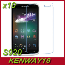 10pcs/lot  LCD Clear Screen Protector With Hard Coating For Lenovo S920 1280X720 5.3 inch Smartphone