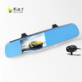 1080P HD car camera 4 3 inch screen dual lens Car DVR Night Vision rearview mirror