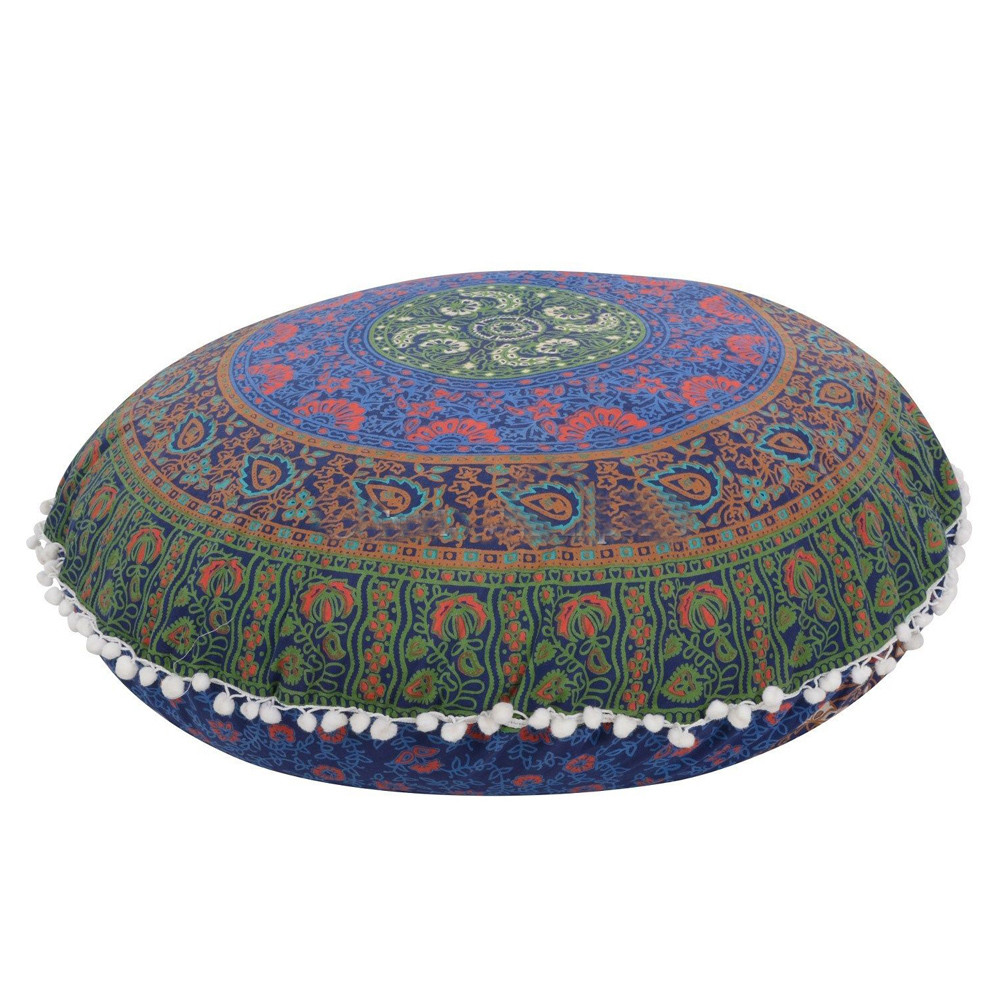 Indian Large Mandala Floor Pillowcase Round Bohemian