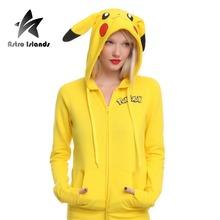 Pokemon Go Hoddies Women`s Sport Hoody Fashion Cartton Pikachu Printed Warm Tracksuits womens Lovely Clothous Hoddies AR137
