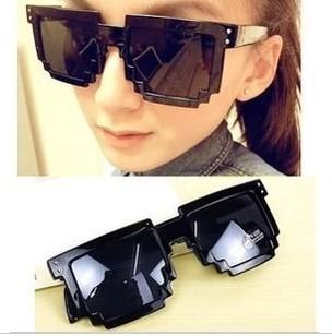 Free Shipping 2015 Code Programmer Pixelated 8-Bit Black Sunglasses CPU Gamer Geek Designer Sunglasses Retail(China (Mainland))