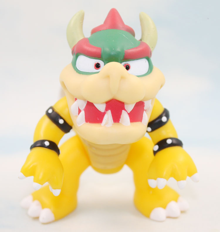Super Mario EMS 150pcs/lot 10cm Super Mario Koopa bowser pvc doll with red hat Figure Toy<br><br>Aliexpress