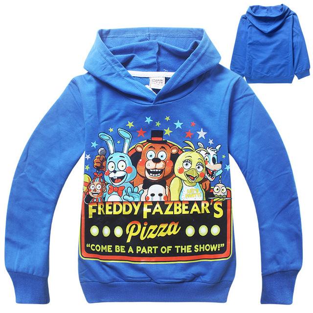 Дети спортивной одежды пять ночей на Freddys детская футболка мальчиков с длинным рукавом мультфильм толстовки одежда