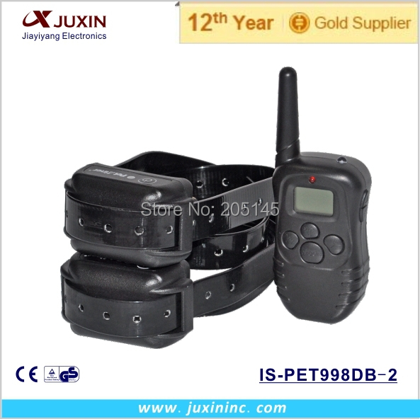 Water-proof dog remote training collar with rechargeable dog electric collar for 2 dogs training(China (Mainland))