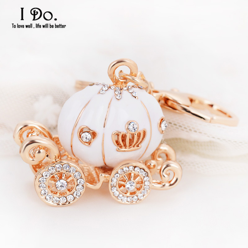 Free Shipping Cinderella Pumpkin Carriage Keychain Wedding Favors And Gifts Wedding Souvenirs Wedding Supplies Obsequios Boda(China (Mainland))