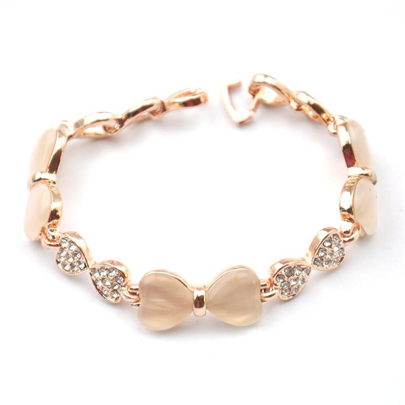 Free Shipping Opal Bracelets Women Gold/Silver Plated Hand Jewelry Fashion Rhinestone/Simulated Diamond Dress Accessories(China (Mainland))