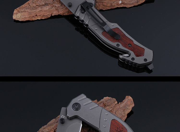 Buy BROWNING X42 Multitools Self-defense Folding Knife Mini Pocket Outdoor Camping Tactical Survival Knife with Bottle Opener T cheap