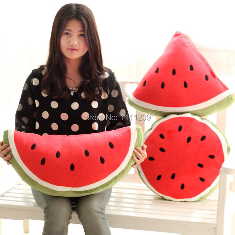 Fruit Series Cartoon watermelon pillow cushion soft and comfortable big pillow lovely cushion birthday gift Free shipping(China (Mainland))