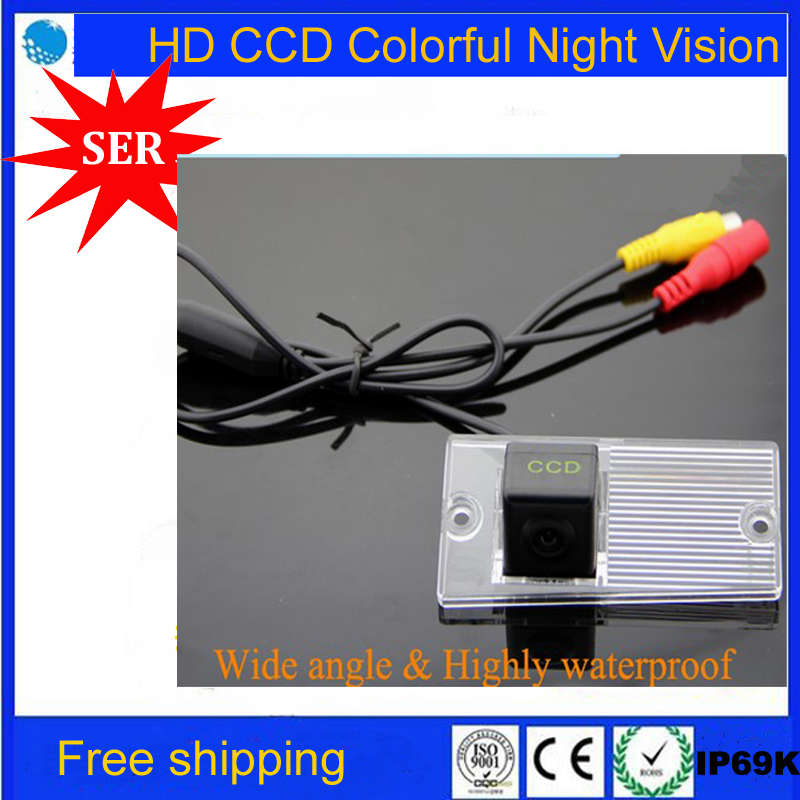 SONY CCD HD night vision for KIA SPORTAGE Car Rear View camera Backup parking aid rear monitor rearview system reversing camera(China (Mainland))