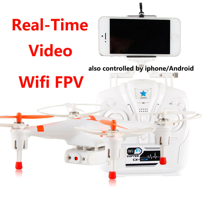 Cheerson CX-30W 4CH 2.4GHz 6-Axis Gyro RC Drone HD Camera for iPhone Android Wifi FPV Real Time Video Transmitter Quadcopter(China (Mainland))