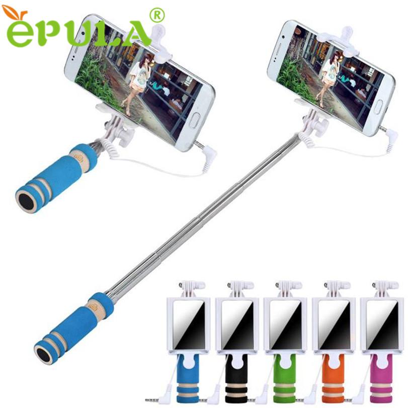 hot sale epula selfie sticks mirror rubber gifts handheld extendable self por. Black Bedroom Furniture Sets. Home Design Ideas