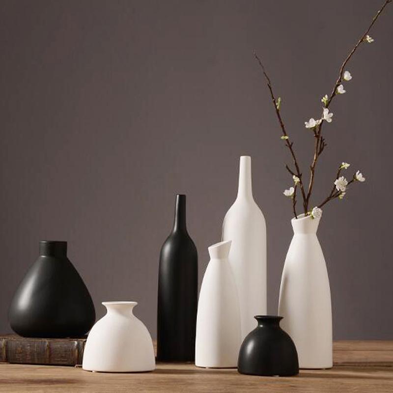 jarrones decorativos moderno escritorio florero de cermica china artes y artesanas de porcelana florero decoracin de