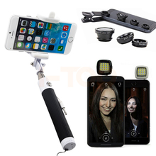Buy Universal Clips Fisheye Macro Wide Angle Lenses Fish eye lens Smartphone Selfie Stick Flash Light Cell Phone Camera lentes for $8.33 in AliExpress store