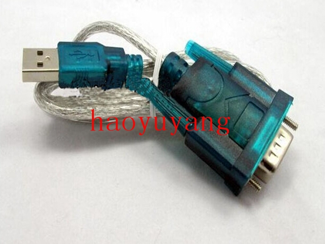 Free Shipping Wholesale 200pcs/lot USB 2.0 TO RS232 Serial DB9 9 Pin Cable Adapter(China (Mainland))