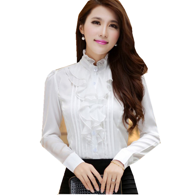 Perfect Women Fashion Women Office Blouse Long Sleeve Shirt Women Work Wear