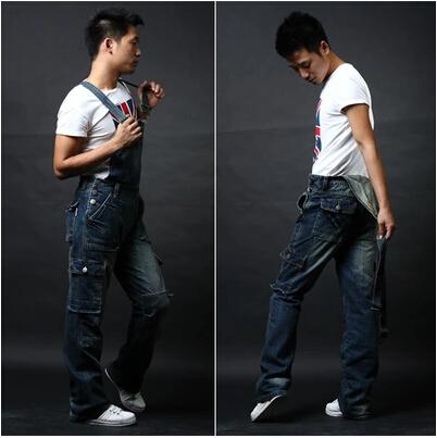 Free shipping 2015 new denim overalls men, trousers suspenders, plus size denim jumpsuit, s m l xl 2xl 3xl 4xl 5xl 6xl 7xl 8xl(China (Mainland))