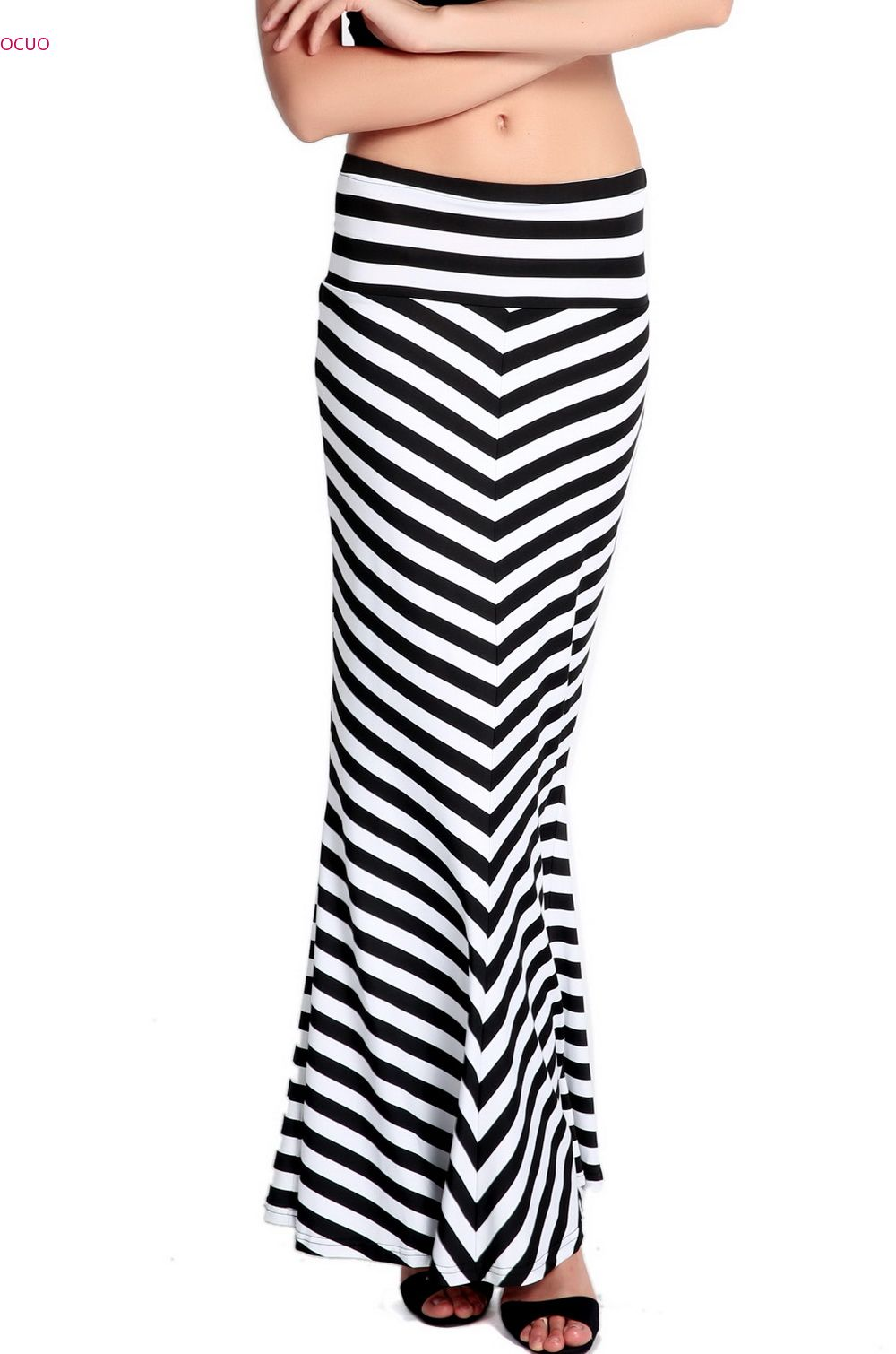 new vintage style s striped banded high waist fitted