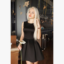 Summer dresses 2016 new year fashion women  dress clothes for women sleeveless O-neck dress fall women's Clothing(China (Mainland))
