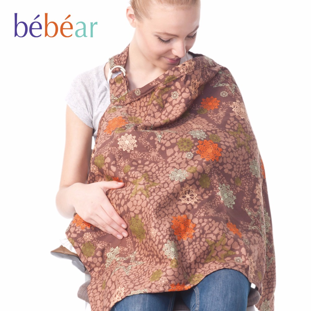 Breastfeeding Cover Baby Infant Breathable Cotton Muslin nursing cloth L large size big Nursing Cover feeding cover