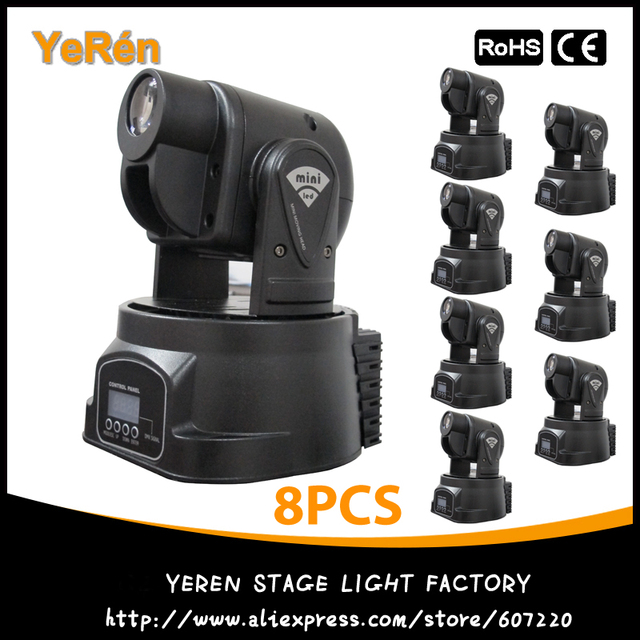 (8PCS) Spot 15W LED Mini Moving Head Club DJ Stage Light  Best Price Free Shipping