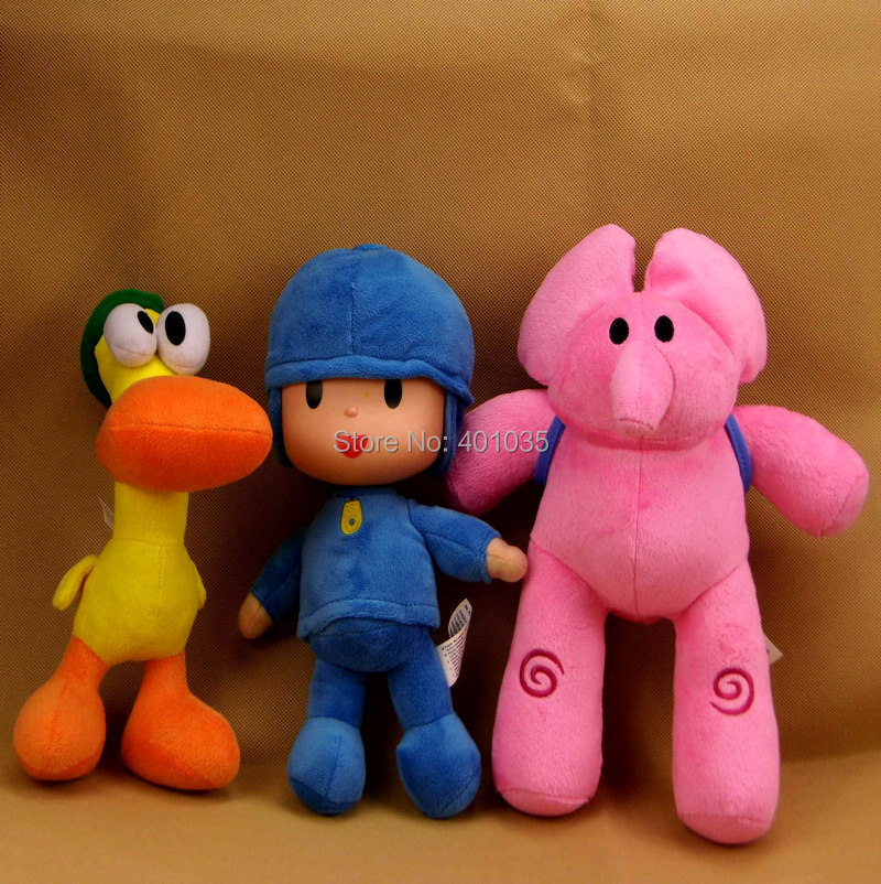 s POCOYO Zinkia Plush Toys sets 30cm Elly & Pato Pocoyo Loula Stuffed Soft Dolls Kids Gift Free Ship - Pop toys store