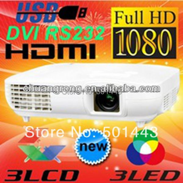 made China CRE 2000VX 2014 Home Theater System White mini 3led 3lcd Large Picture HDMI 1080P Projector - Best Brand LED store