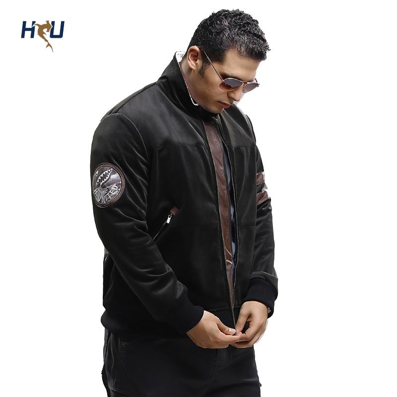Free Shipping Regular Fit Big Size Bomber Jacket.Turn Down Collar Full Zip Long Sleeve Men's Outerwear Coat 2XL 3XL 4XL 5XL 6XL